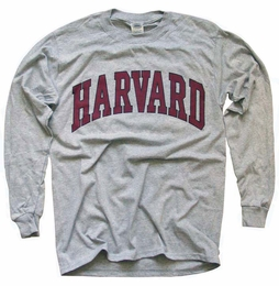 HARVARD UNIVERSITY CRIMSON ATHLETIC T-SHIRT, LONG