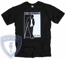 HOUSE M.D. T-SHIRT THE DOCTOR IS IN OFFICIAL TV SERIES