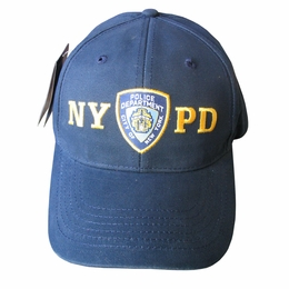 NYPD CAP, BASEBALL NEW YORK CITY POLICE DEPARTMENT EMBROIDERED SHIELD