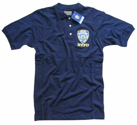 NYPD POLO GOLF SHIRT NEW YORK CITY POLICE DEPARTMENT EMBROIDERED SHIELD