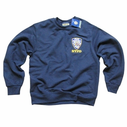 NYPD SWEATSHIRT, Officially Licensed New York Police Department Crewneck Embroidered Sweater
