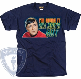 STAR TREK ALL SHES GOT ORIGINAL SERIES T-SHIRT