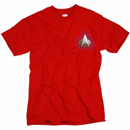 STAR TREK COMMAND UNIFORM THE NEXT GENERATION T-SHIRT