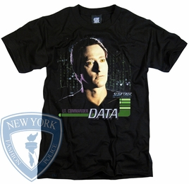 STAR TREK DATA THE NEXT GENERATION T-SHIRT