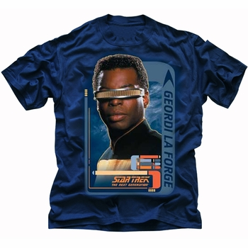 STAR TREK GEORDI LAFORGE THE NEXT GENERATION T-SHIRT