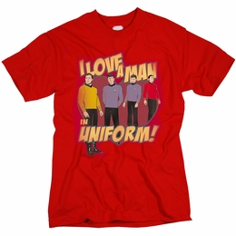 STAR TREK I LOVE A MAN IN UNIFORM ORIGINAL SERIES T-SHIRT