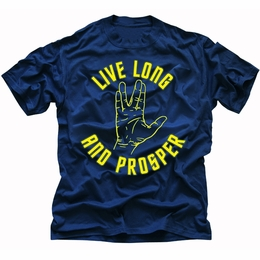 STAR TREK LIVE LONG AND PROSPER ORIGINAL SERIES T-SHIRT