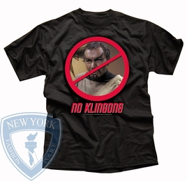 STAR TREK NO KLINGONS ORIGINAL SERIES T-SHIRT