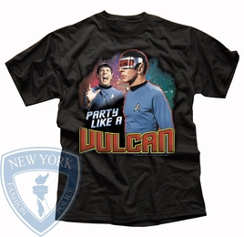 STAR TREK PARTY LIKE A VULCAN ORIGINAL SERIES T-SHIRT