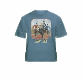 STAR TREK RUNNING CARTOON CREW ORIGINAL SERIES T-SHIRT