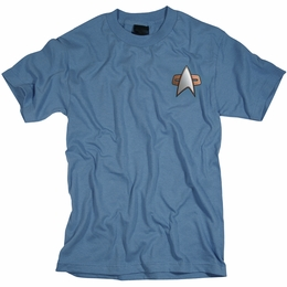 STAR TREK SCIENCE UNIFORM DEEP SPACE NINE T-SHIRT