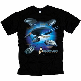 STAR TREK STARFLEET VESSELS ORIGINAL SERIES T-SHIRT