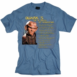 STAR TREK T-SHIRT DEEP SPACE 9 QUARKS RULES