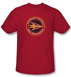 STAR TREK T-SHIRT DEEP SPACE NINE RED SQUADRON STARFLEET ACADEMY