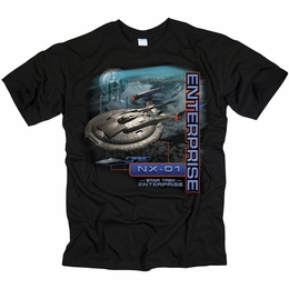 STAR TREK T-SHIRT ENTERPRISE ENTERPRISE NX-01