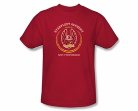 STAR TREK T-SHIRT NEXT GENERATION ACADEMY HERALDRY