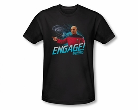 STAR TREK T-SHIRT NEXT GENERATION ENGAGE