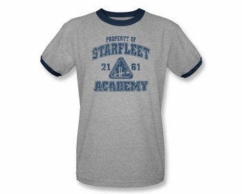STAR TREK T-SHIRT NEXT GENERATION OLD SCHOOL STARFLEET ACADEMY