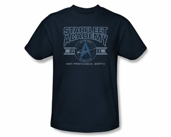 STAR TREK T-SHIRT NEXT GENERATION STARFLEET ACADEMY EARTH