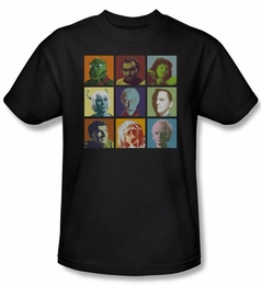 STAR TREK T-SHIRT ORIGINAL SERIES ALIEN SQUARES