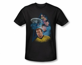 STAR TREK T-SHIRT ORIGINAL SERIES AMONG THE STARS