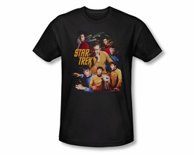 STAR TREK T-SHIRT ORIGINAL SERIES AT THE CONTROLS