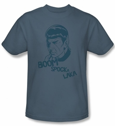 STAR TREK T-SHIRT ORIGINAL SERIES BOOM SPOCKA LAKA