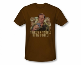 STAR TREK T-SHIRT ORIGINAL SERIES COFFEE TRIBBLE