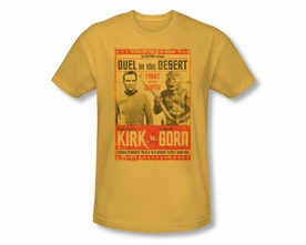 STAR TREK T-SHIRT ORIGINAL SERIES DUEL IN THE DESERT