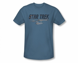STAR TREK T-SHIRT ORIGINAL SERIES ENTERPRISE LOGO