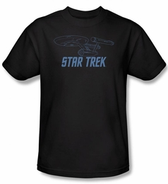 STAR TREK T-SHIRT ORIGINAL SERIES ENTERPRISE OUTLINE