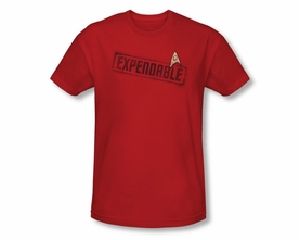 STAR TREK T-SHIRT ORIGINAL SERIES EXPENDABLE