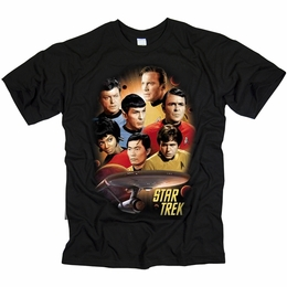 STAR TREK T-SHIRT ORIGINAL SERIES HEART OF THE ENTERPRISE