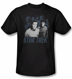STAR TREK T-SHIRT ORIGINAL SERIES KIRK, SPOCK AND COMPANY