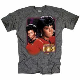STAR TREK T-SHIRT ORIGINAL SERIES LIEUTENANT UHURA