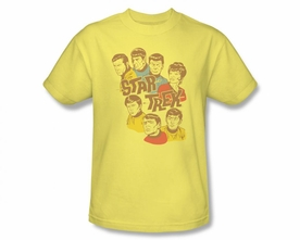 STAR TREK T-SHIRT ORIGINAL SERIES RETRO ILLUSTRATED CREW