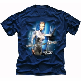 STAR TREK T-SHIRT ORIGINAL SERIES STAR TREK SEVEN OF NINE