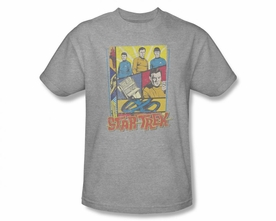 STAR TREK T-SHIRT ORIGINAL SERIES VINTAGE COLLAGE