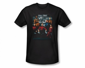 STAR TREK T-SHIRT THE NEXT GENERATION 25TH ANNIVERSARY CREW