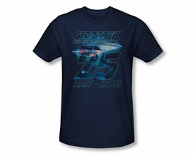 STAR TREK T-SHIRT THE NEXT GENERATION 25TH ANNIVERSARY ENTEPRISE