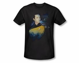 STAR TREK T-SHIRT THE NEXT GENERATION COMMANDER DATA 25TH ANNIVERSARY