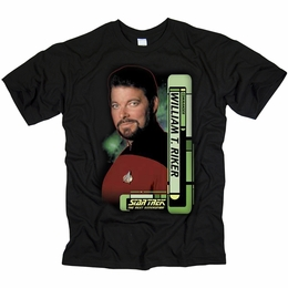 STAR TREK T-SHIRT THE NEXT GENERATION COMMANDER WILLIAM RIKER