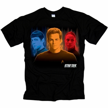 STAR TREK TELEPORT TRIO ORIGINAL SERIES T-SHIRT
