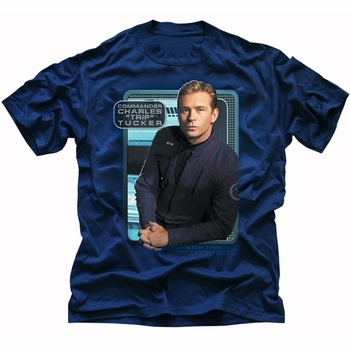 STAR TREK TRIP TUCKER ENTERPRISE T-SHIRT