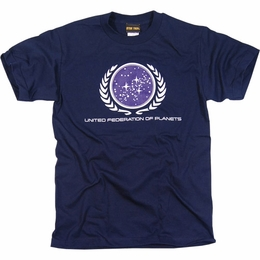 STAR TREK UNITED FEDERATION OF PLANETS LOGO T-SHIRT