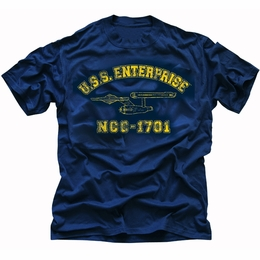 STAR TREK USS ENTERPRISE NCC-1701 ATHLETIC ORIGINAL SERIES T-SHIRT