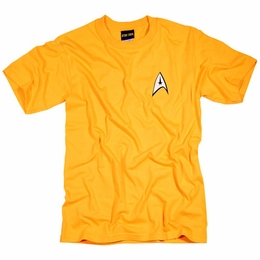 STAR TREK USS ENTERPRISE OFFICER CAPTAIN JAMES T KIRK UNIFORM T-SHIRT