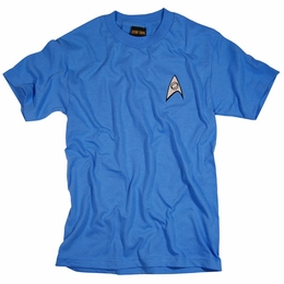 STAR TREK USS ENTERPRISE SCIENCE CREW MR SPOCK UNIFORM T-SHIRT