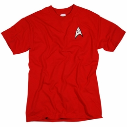 STAR TREK USS ENTERPRISE SECURITY & ENGINEERING CREW SCOTTY UNIFORM T-SHIRT