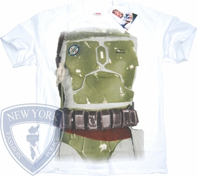 STAR WARS T-SHIRT BOBA FETT COSTUME  TEE